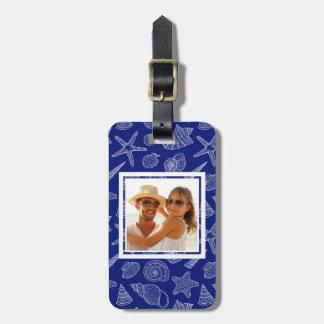 Kundenspezifisches Foto-helles blaues Kofferanhänger