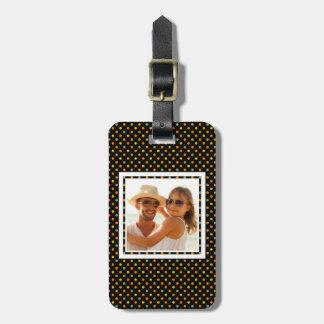 Kundenspezifisches Foto-helles Polka-Punkt-Muster Kofferanhänger
