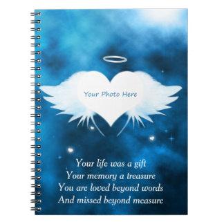 Kundenspezifisches Foto-Notizbuch - Engel des Spiral Notizblock