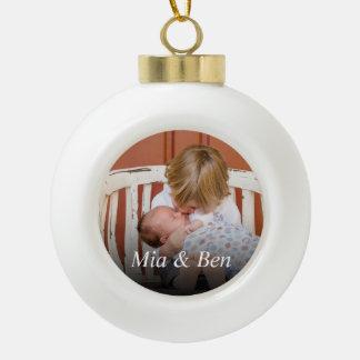 Kundenspezifisches Foto schaffen Ihre Selbst Keramik Kugel-Ornament