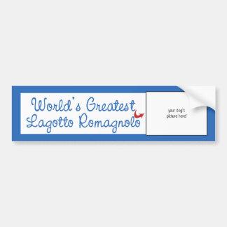 Kundenspezifisches Foto! Weltbestes Lagotto Autoaufkleber
