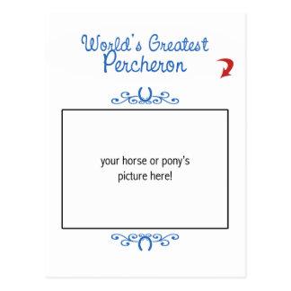Kundenspezifisches Foto! Weltbestes Percheron Postkarte