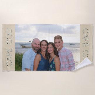 Kundenspezifisches FotoBadetuch - personalisiertes Strandtuch