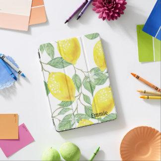 Kundenspezifisches gelbes Zitronen und Blätter iPad Pro Cover