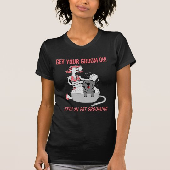 Kundenspezifisches Haustier-Pflegengeschäfts-Kleid T-Shirt