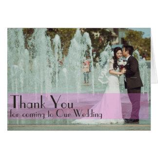 Kundenspezifisches Hochzeits-Foto danken Ihnen, Grußkarte