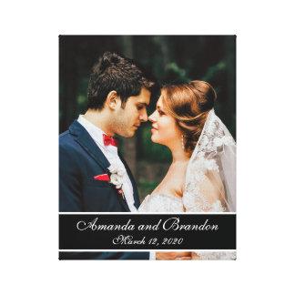 Kundenspezifisches Hochzeits-Foto-moderne Gespannte Galerie Drucke