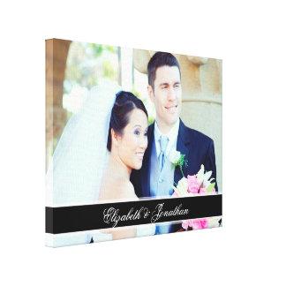 Kundenspezifisches Hochzeits-Foto-personalisierte Leinwanddrucke
