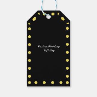 Kundenspezifisches Hochzeits-Schwarzes und Geschenkanhänger