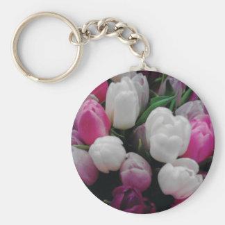 Kundenspezifisches keychain Foto der Tulpe-Blumen Schlüsselanhänger