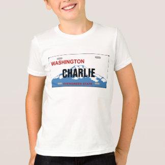 Kundenspezifisches Kfz-Kennzeichen Washingtons T-Shirt