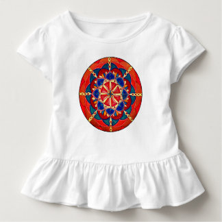 Kundenspezifisches Kleinkind-T-Shirt mit Rüsche Kleinkind T-shirt