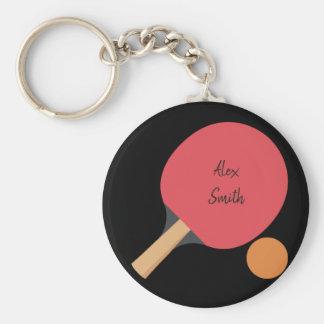 Kundenspezifisches Klingeln-Pong Paddel Schlüsselanhänger