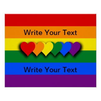 Kundenspezifisches LGBT Flagge Plakat