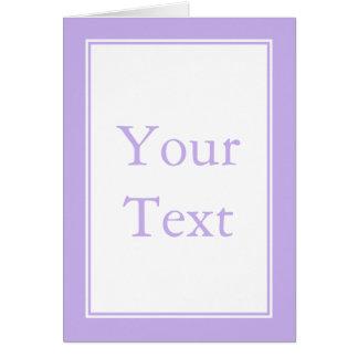 Kundenspezifisches lila u. weißes karte