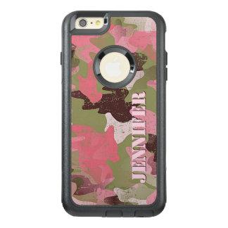 Kundenspezifisches militärisches grünes rosa OtterBox iPhone 6/6s plus hülle