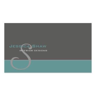 Kundenspezifisches Monogramm 4 Visitenkarten Vorlage