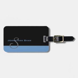 Kundenspezifisches Monogramm 5 (Blau) Gepäckanhänger