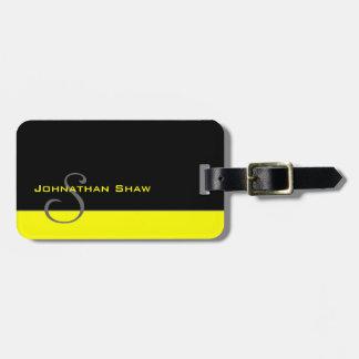Kundenspezifisches Monogramm 5 (Gelb) Kofferanhänger