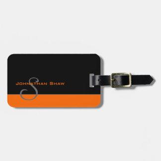 Kundenspezifisches Monogramm 5 (Orange) Kofferanhänger