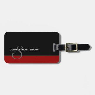 Kundenspezifisches Monogramm 5 (Rot) Gepäckanhänger