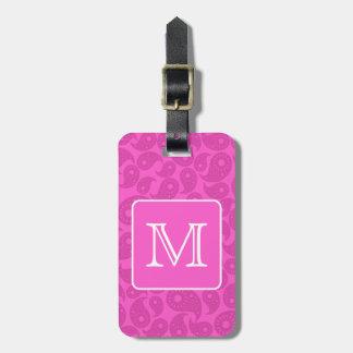 Kundenspezifisches Monogramm. Helles rosa Gepäck Anhänger