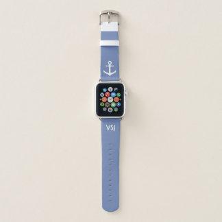 Kundenspezifisches Monogramm-SeeApple-Uhrenarmband Apple Watch Armband