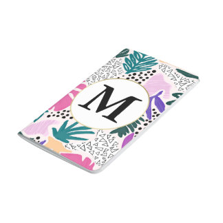 Kundenspezifisches Monogramm-tropische Taschennotizbuch