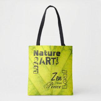Kundenspezifisches natürliches Blatt Tasche