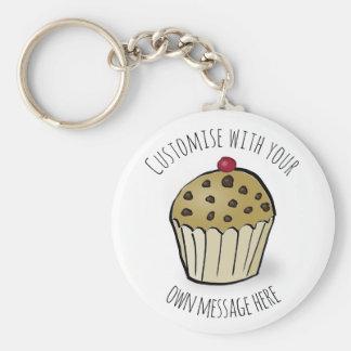 Kundenspezifisches niedliches Minimuffin Schlüsselanhänger