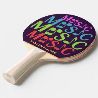 Kundenspezifisches Paddel pong Klingeln der MUSIK Tischtennis Schläger