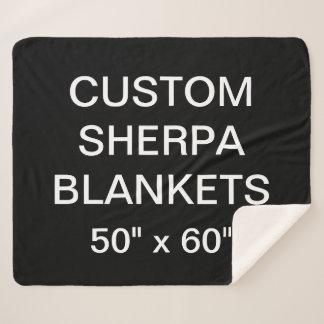 """Kundenspezifisches personalisiertes 50"""" x 60"""" sherpadecke"""