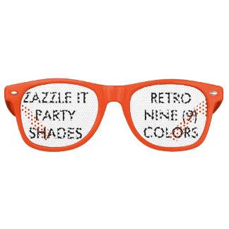 Kundenspezifisches personalisiertes Retro Party Retro Sonnenbrillen