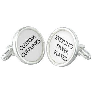 Kundenspezifisches personalisiertes Silber Manschetten Knöpfe