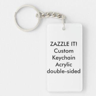 Kundenspezifisches Rechteck AcrylKeychain Schlüsselanhänger