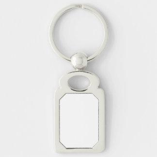 Kundenspezifisches Rechteck Keychain Schlüsselanhänger