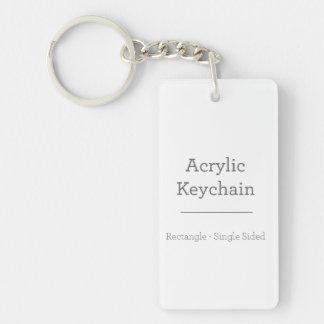 Kundenspezifisches rechteckiges Keychain Einseitiger Rechteckiger Acryl Schlüsselanhänger