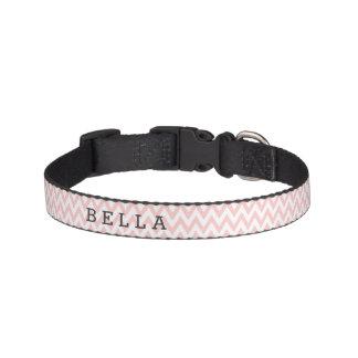 Kundenspezifisches rosa Zickzack Hundehalsband Leine