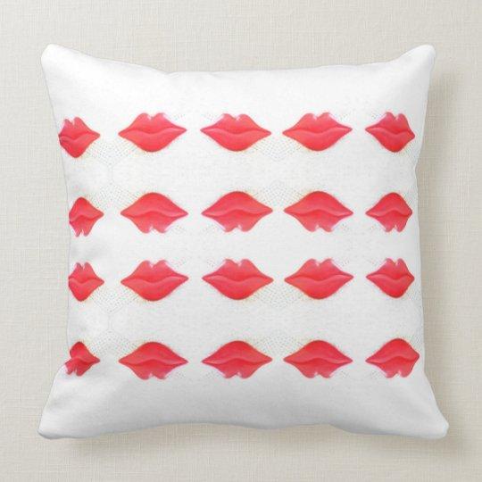 kundenspezifisches rotes Lippenentwurf Kissen