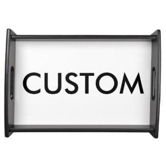 Kundenspezifisches schwarzes hölzernes serviertablett