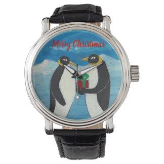 Kundenspezifisches schwarzes Vintages Leder des Uhr