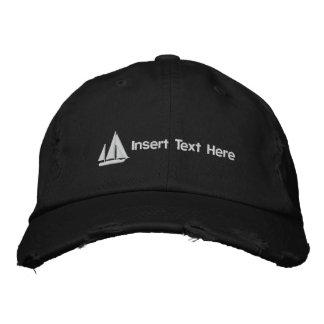 Kundenspezifisches Segelboot gestickter Hut Baseballcap