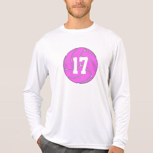 Kundenspezifisches Shirt die Lang-Hülse der rosa