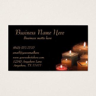 Kundenspezifisches stilvolles Schwarzes leuchtet Visitenkarte