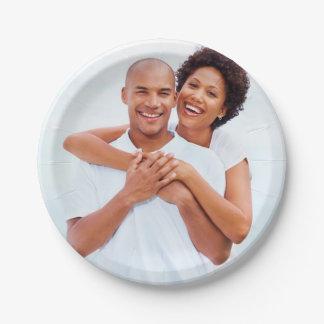 Kundenspezifisches Verlobungs-Foto Pappteller