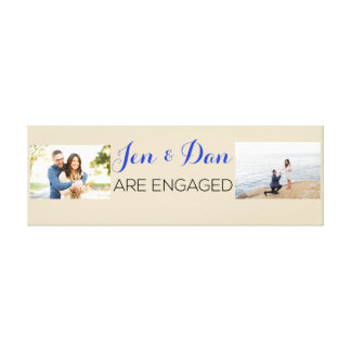 Kundenspezifisches Verlobungs-Geschenk Leinwanddruck