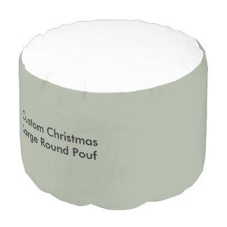 Kundenspezifisches Weihnachtsgroßer runder Puff Hocker