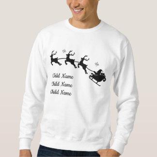 Kundenspezifisches WeihnachtsSweatshirt Sankt und Sweatshirt