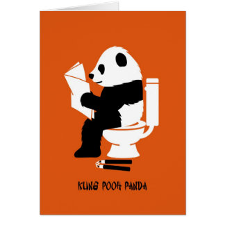 Kung pfui Panda-lustiger Geburtstag Karten