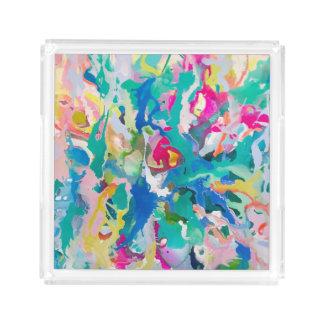 Kunst-Acryl-Behälter Carolyn Joe Acryl Tablett